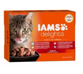 Iams ADULT DELIGHTS LAND & SEA IN JELLY COLLECTION